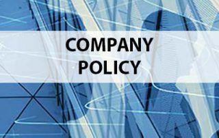 Alkora. Company Policy